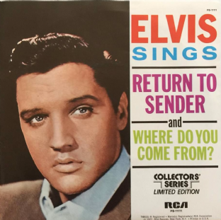 "Elvis Presley ‎- Return To Sender (7"") (EX+/EX)"